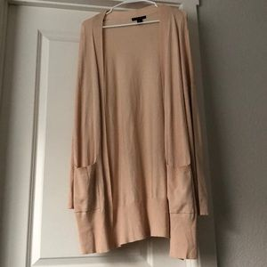 Long Cream Cardigan forever 21 Size M